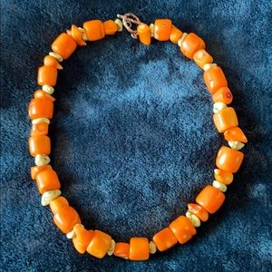 Orange and green Coral Necklace